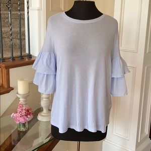 H&M Ruffled Sleeve Blouse